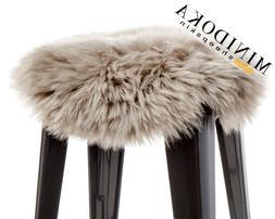 100% Australian Sheepskin, Round Seat Cushion, Stool or Chai