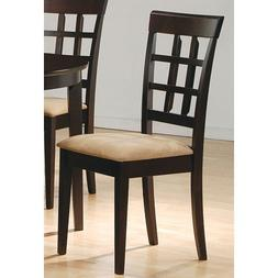 Coaster 100772 Cappuccino Wheat Back Side Chairs Fabric Seat