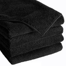12 black microfiber 16x16 cleaning cloth detailing polishing