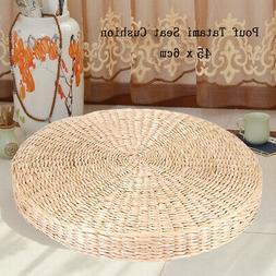 """18"""" Tatami Cushion Chair Seat Handmade Natural Straw Round S"""