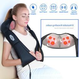 1byone Shiatsu Deep-Kneading Massager with Heat and Car Adap