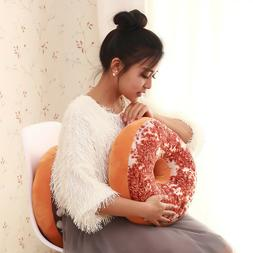 1pc Pillow Case Donut Throw Fruit Seat Pad Home Decor Dining