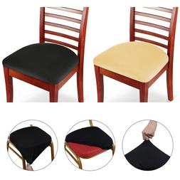 2/4/6 Pcs Spandex Stretch Chair Seat Covers Removable Stretc