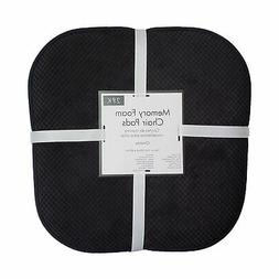 2 Black Soft Chair Pad Cushion Non-Slip Kitchen Office Livin