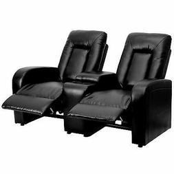 Flash Furniture Eclipse Series 2-Seat Reclining Black Leathe