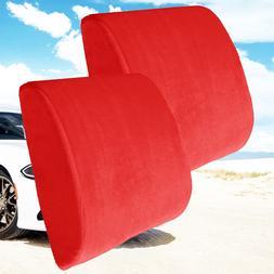 2  Memory Foam Back Lumbar Support Pillow Car Seat Home Offi