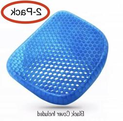 2 PACK - Gel Pad Cushion Seat Gel structured Back Support