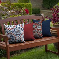 2 Patio OUTDOOR Throw Pillows Accent Deck Chair Bench Seatin