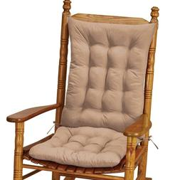 2 PC. Quilted Rocking Chair Armchair Cushion Set Back Seat C