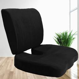 2 PC SET Memory Foam Back & Seat Cushion Pillow New Design 4