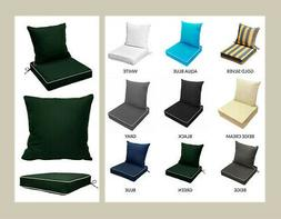 "24"" x 24"" x 5"" Green Outdoor Polyester Deep Seat Cushi"