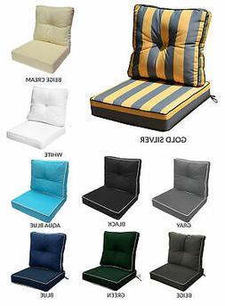 "24"" x 24"" x 5"" Indoor/ Outdoor Deep Seat Cushion Back Rest P"