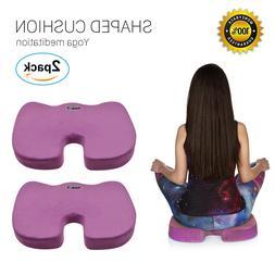 2Pack Memory Foam Lumbar Pain Relief Chair Pillow Orthopedic