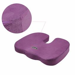 2PCS Coccyx Orthopedic Memory Foam Seat Cushion Chair Pain R