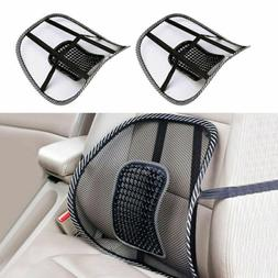 2pcs Cool Vent Cushion Mesh Back Lumbar Support  Car Office