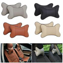 2PCS Travel Auto Car Seat Head Neck Rest Cushion Pad HeadRes
