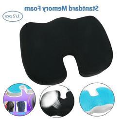 2xOffice Chair Cushion Memory Foam Orthopedic Coccyx Car Sea
