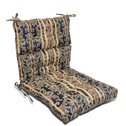 "3"" Thickness Patio Garden Dining Seat/Back Chair Cushion Sea"