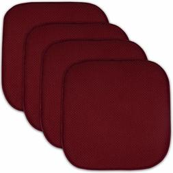 "4 Pack Memory Foam Honeycomb Nonslip Back 16"" x16"" Chair/Sea"