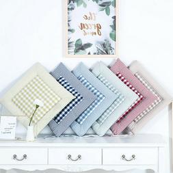 40x40CM Fashion Soft Cotton Plaid Garden Thicker <font><b>Se