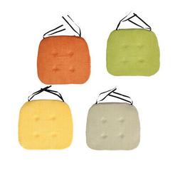 4Pcs Padded Cushion Chair Seat Pads With Ties for Garden Din