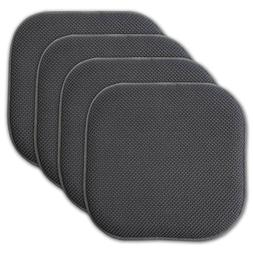 4Pk Chair Cushions Seat Pad Non Slip Honeycomb Memory Foam H