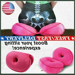 6 colors Dual Comfort Cushion Lift Hips Up Seat Cushion On S