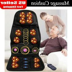 8 Mode Massage Seat Cushion with Heated Back Neck Massager C