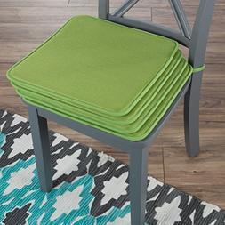 Lavish Home 82-TEX1044GN Chair Cushions-Set of 4 Square Foam