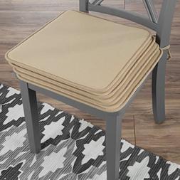 Lavish Home 82-TEX1044TN Chair Cushions-Set of 4 Square Foam