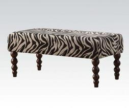 ACME Furniture 96626 Alysha Bench, Zebra Fabric