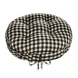 Barnett Products Checkers Black & White/Cream Round Barstool