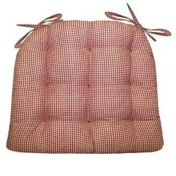 Barnett Products Dining Chair Pad with Ties - Madrid Gingham