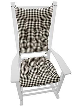 Barnett Products Rocking Chair Cushion Set - Checkers Black