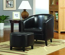 Coaster Home Furnishings Barrel Back Accent Chair with Ottom