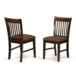 East West Furniture NFC-MAH-C Dining Room Chair Set with Uph