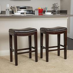 Great Deal Furniture | Jaeden | Backless Faux Leather Counte