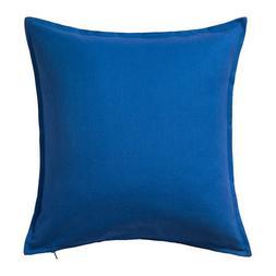 Ikea Gurli Cushion Pillow Cover Cotton Blue