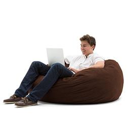 Large Sueded Bean Bag in Espresso