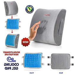Lumbar Support Pillow Cushion, Memory Foam Soft & Firm to Pr
