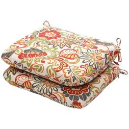Pillow Perfect Indoor/Outdoor Multicolored Modern Floral Rou
