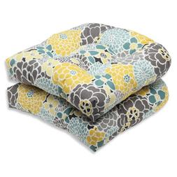 Pillow Perfect Outdoor Full Bloom Wicker Seat Cushion, Set o
