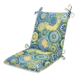 Pillow Perfect Outdoor Omnia Lagoon Squared Corners Chair Cu