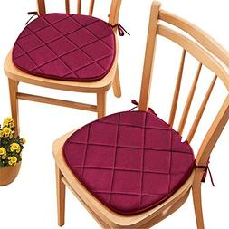 Collections Etc Quilted Memory Foam Cushioned Chair Pads wit