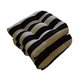 Set of 2 - Universal Tufted U-shape Cushions for Wicker Chai