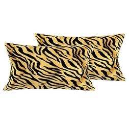 "WOMHOPE 2 Pcs - 13"" x 19"" Faux Fur Cushion Decorative Pillow"