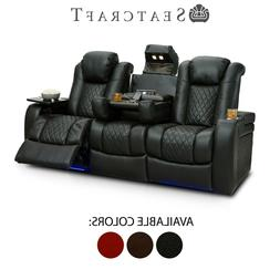 Seatcraft Anthem Leather Home Theater Seating Sofa Recliner