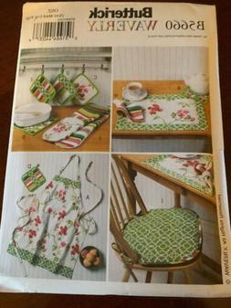 Apron Placemats Seat Cushions Hot Pads etc Sewing Pattern B5