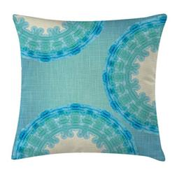 Ambesonne Aqua Throw Pillow Cushion Cover, Tie Dye Mandala O