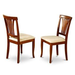 East West Furniture AVC-SBR-C Chair Set for Dining Room with